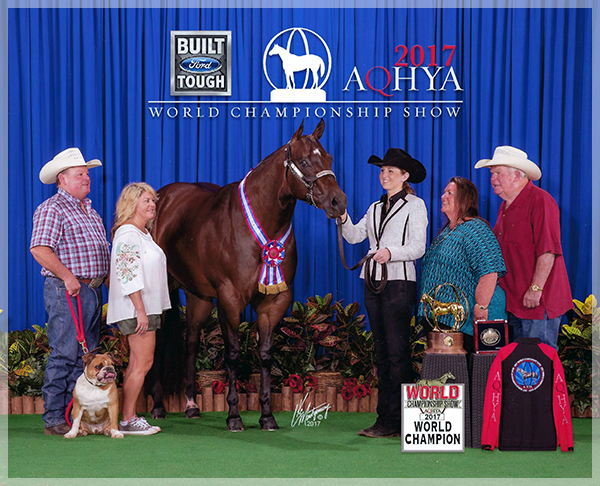 FG CLEOPATRA - 2017 AQHYA WORLD CHAMPION