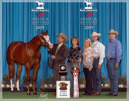 2009 AQHA Reserve World Championship in Yearling Stallions!! ****Winner of the 2009 WCHA Congress Yearling Stallion Class****