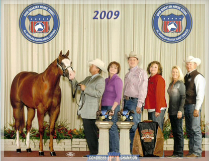 2009 Congress Unanimous Winner Amateur Yearling Stallions and third in Open Shown in Amateur by Mark Lakenburger and in Open by Gene Parker