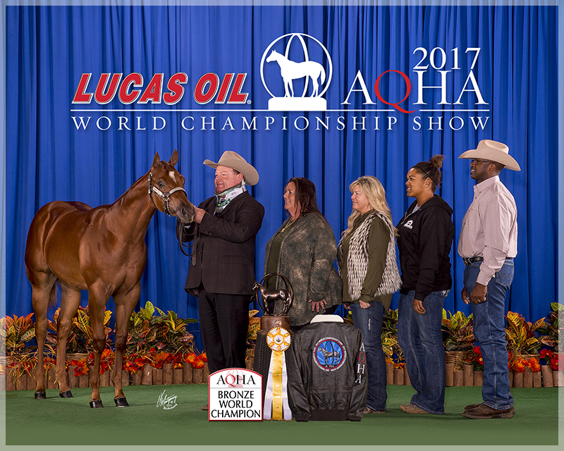 FG TOTALLY SMOKIN - 2017 AQHA BRONZE WORLD CHAMPION